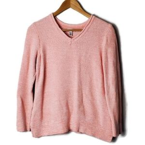Croft & Barrow pink cotton sweater